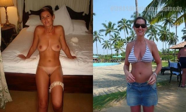 Сравнение голых женщин и в одежде 1 фото