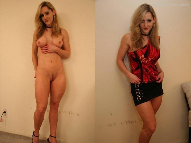Сравнение голых женщин и в одежде 2 фото