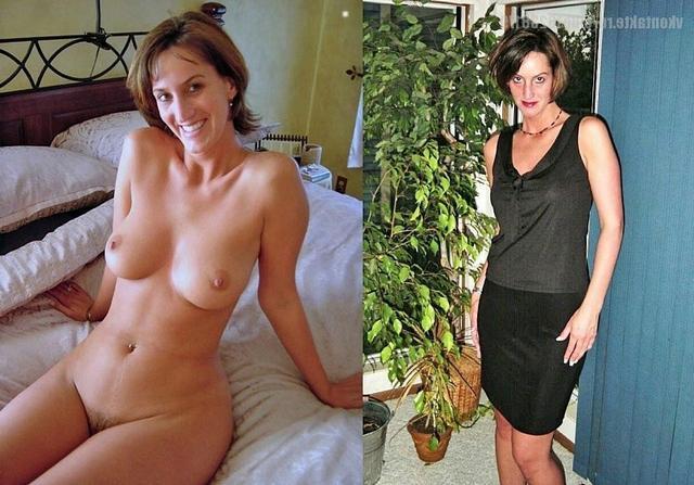 Сравнение голых женщин и в одежде 5 фото