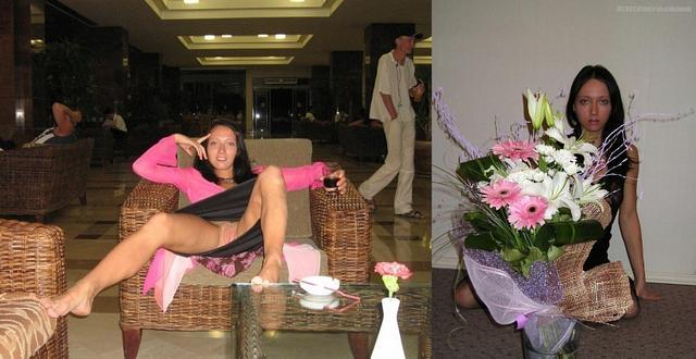 Сравнение голых женщин и в одежде 11 фото