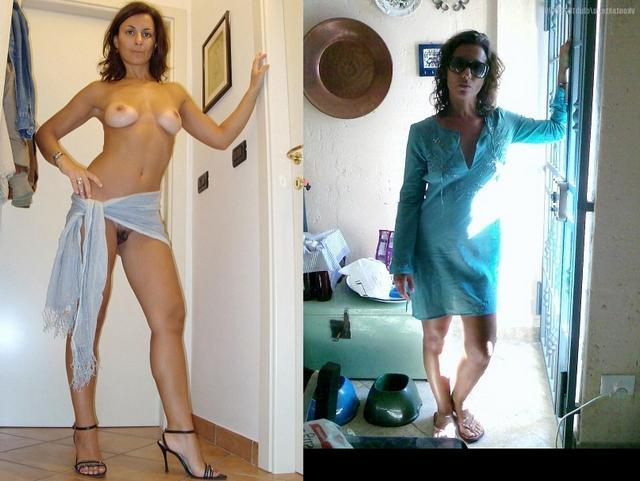 Сравнение голых женщин и в одежде 13 фото