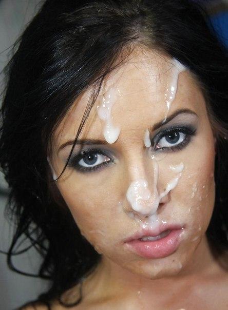 Подборка красоток со спермой на лице с закрытого форума 16 фото