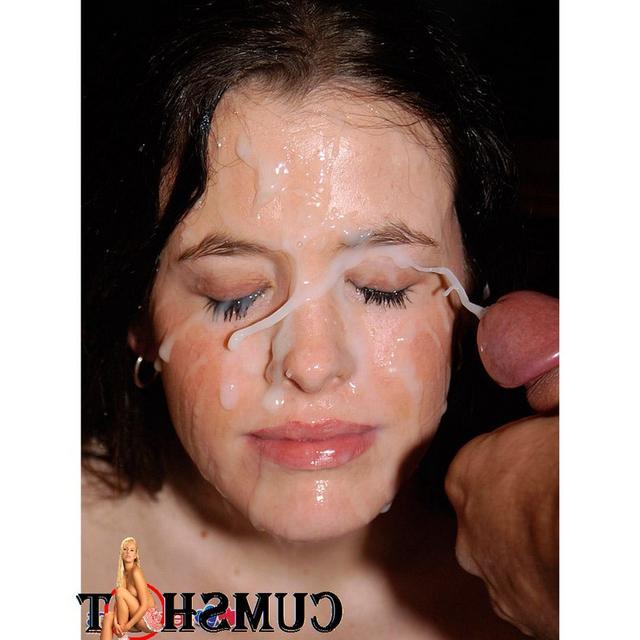 Подборка девушек со спермой на лице после минета 19 фото