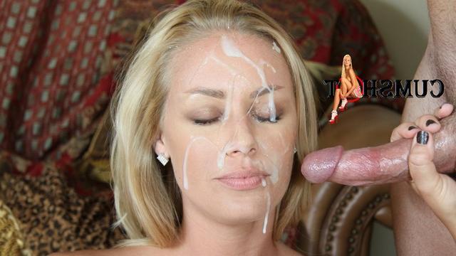 Подборка девушек со спермой на лице после минета 11 фото