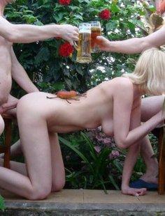 Групповуха с русскими девушками из глубинки
