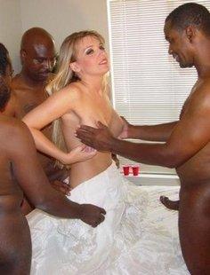 Подборка откровенных фото группового секса с неграми