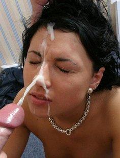 Коллекция фото девок со спермой на лице