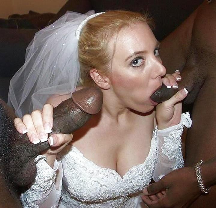 Невеста отсасывает длинный член неграм по очереди 9 фото