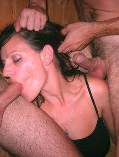 Подборка любительского секса втроем