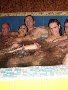 Классный отдых в бане молодых