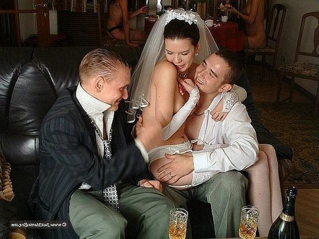 Невеста трахнулась перед свадьбой с двумя парнями 6 фото