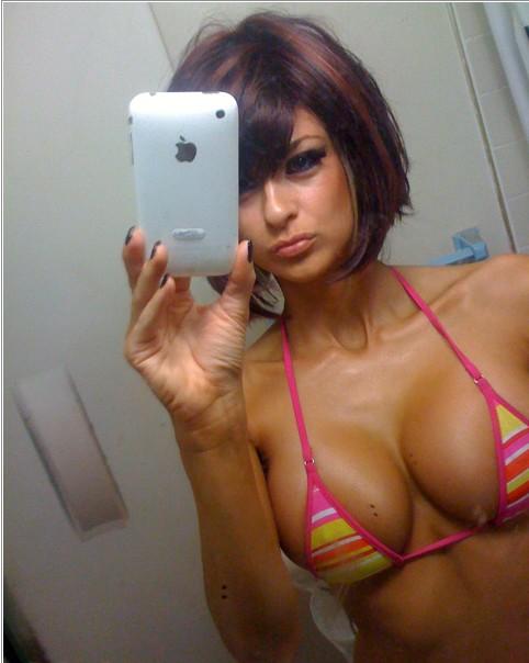 Селфи голых милашек в зеркалах из Твиттера 5 фото