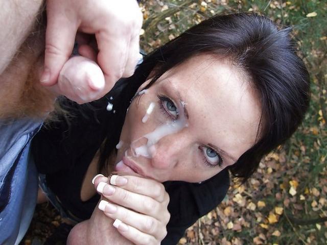 Красивые бабы сосут и получают сперму в рот и на лицо 24 фото