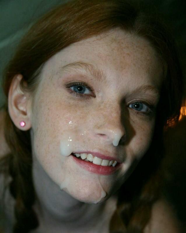 Умелые минетчицы хвастаются спермой на лице 10 фото